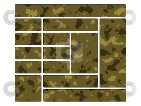 Desert Army Camouflage  Website Navigation Website Interface But stock photo, Desert Army Camouflage  Website Navigation Website Interface Buttons by Robert Davies