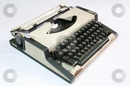 Old typewriter - sideview stock photo, Side view of an old manual typewriter by Jonas Marcos San Luis