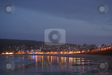 Morgat stock photo, Night on the coast at Morgat (Britany France) by Serge VILLA
