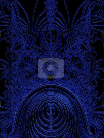 Dark Blue Solar System Fractal