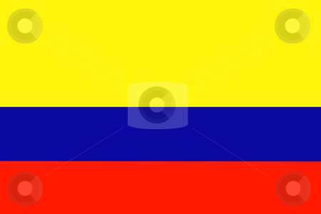 Flag of Colombia stock photo, Flag of Colombia illustration by John Teeter