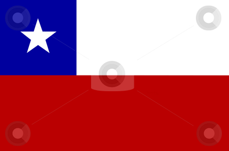 Flag of Chile illustration stock photo, Flag of Chile illustration by John Teeter