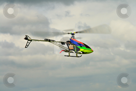 Gas fueled toy helicopter stock photo, Gas fueled  toy helicopter in flight by Jonas Marcos San Luis