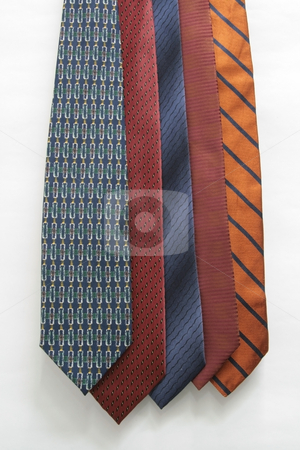 Neck tie stock photo, Assorted necktie isolated on white background by Jonas Marcos San Luis