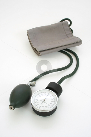 Sphygmomanometer   stock photo, Sphygmomanometer isolated on white background by Jonas Marcos San Luis