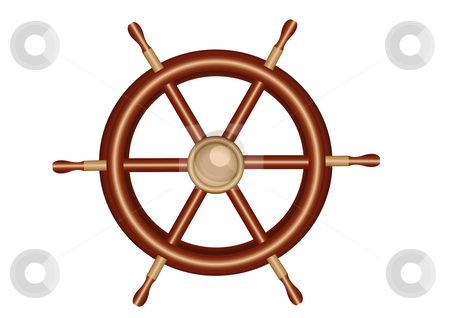 Ships Wheel Vector Illustration stock vector clipart, Ships Wheel Vector Illustration by John Teeter