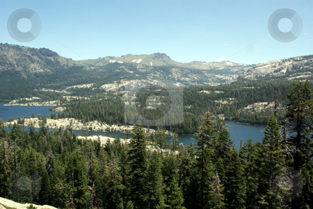 Silver Lake - California Sierras stock photo, View of Silver Lake in late spring located in the high sierras of California by Lynn Bendickson
