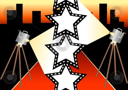 Film Star Illustration stock vector clipart, Film Star Vector Illustration by John Teeter