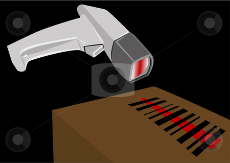 Bar Code Scanner Illustration stock vector clipart, Bar Code scanner vector illustration by John Teeter