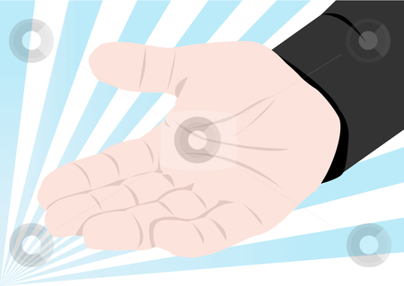 Hand Out Illustration stock vector clipart, Hand out vector illustration by John Teeter