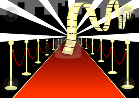 Red Carpet Event Illustration stock vector clipart, Red Carpet Event Vector Illustration by John Teeter
