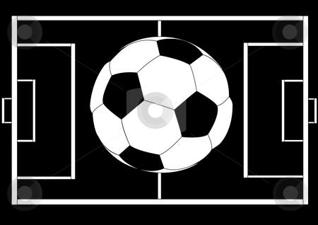 Soccer Ball illustration stock vector clipart, Soccer Ball Illustration Vector by John Teeter
