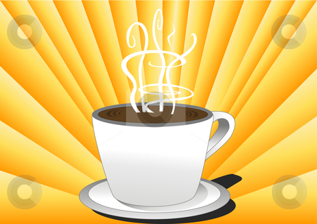 Morning Coffee Vector Illustration stock vector clipart, Morning Cofee Vector Illustration by John Teeter