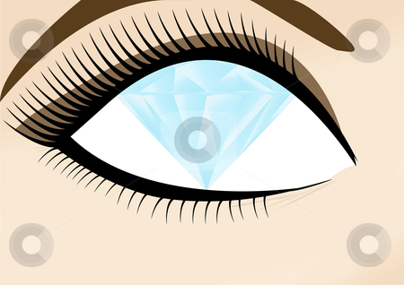Wealthy womans diamond eye stock vector clipart, Weathy womans diamond eye by John Teeter