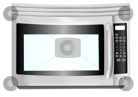 Stainless steel microwave illustration