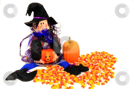 Halloween Trick or treat stock photo, Halloween witch trick or treat by Jack Schiffer