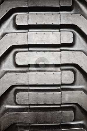 Tractor tire pattern stock photo, Tractor tire pattern, close up shot. by Pablo Caridad