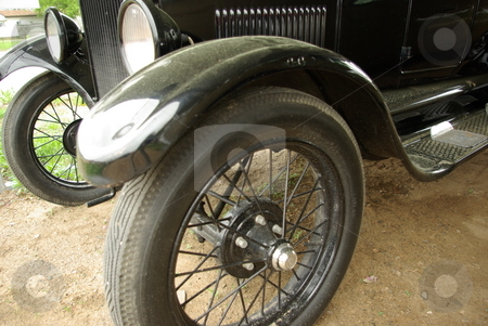Model T Ford stock photo, Front end of a 1926 Model T Ford (Tin Lizzie) recently restored. by Dennis Thomsen