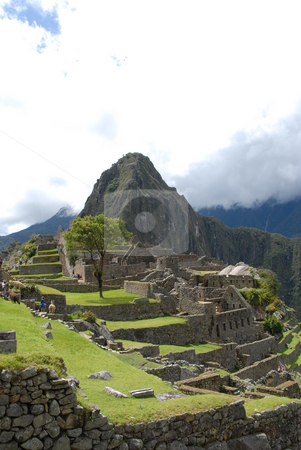 Machu Picchu stock photo, Machu Picchu in Urubamba valley Peru by Johnny Griffin