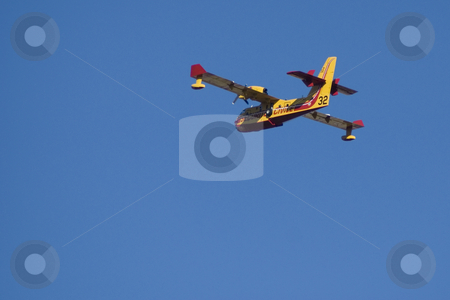 Forest fire rescue plane