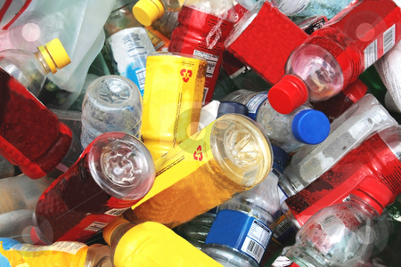 Recyclable materials stock photo, Various pet plastic bottles ready for recyling by Jonas Marcos San Luis