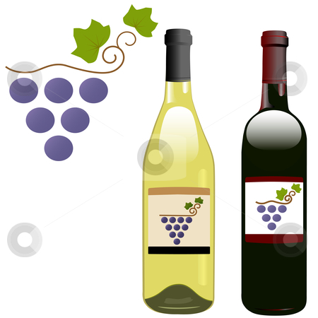 Grape vineyard symbol with red  stock vector clipart, A grape vineyard symbol on the labels of red by Michael Brown