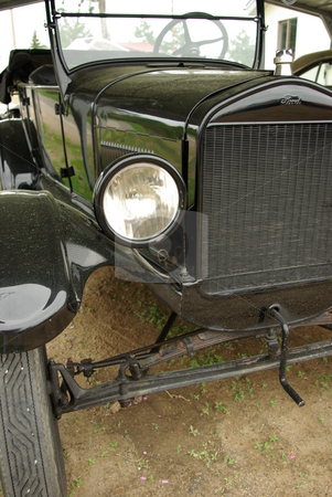 Model T Ford - Tin Lizzie stock photo, This 1926 Model T Ford (also known as a Tin LIzzie) may be an antique auto but it has been restored and still runs. by Dennis Thomsen