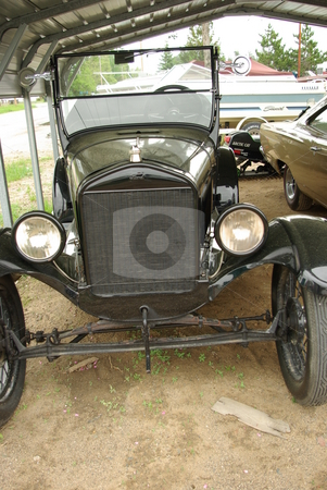 Model T Ford - Tin Lizzie stock photo, This 1926 Ford may be an antique auto but it has been restored and still runs. by Dennis Thomsen