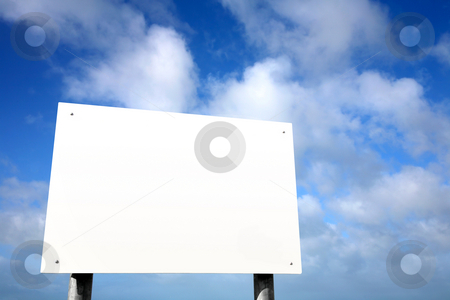 Large white blank sign. stock photo, Large white blank sign. by Stephen Rees