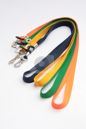 ID leash 1 stock photo, Rainbow colored leash for IDs pens and cellphones by Jonas Marcos San Luis