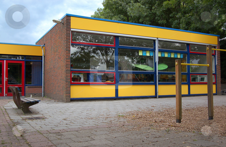 Elementary School stock photo, Typical public primary school building, pictured in The Netherlands. by Karen Koomans