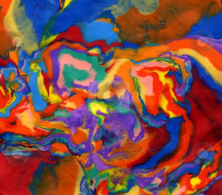 Plasticine bright vivid psychedelic colors background stock photo, Plasticine bright vivid psychedelic colors background by Stephen Rees