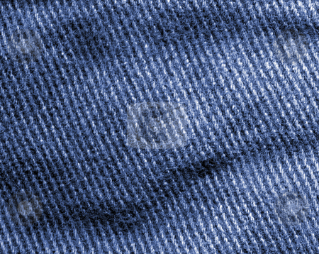 Blue denim jeans macro abstract background. stock photo, Blue denim jeans macro abstract background. by Stephen Rees