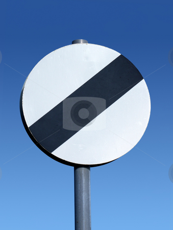 British national speed limit applies sign. stock photo, British national speed limit applies sign. by Stephen Rees