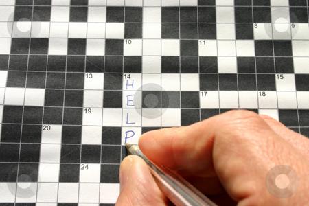 HELP written on a crossword stock photo, HELP written on a crossword by Stephen Rees
