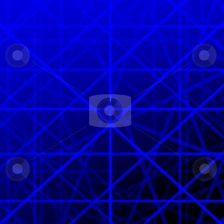 Blue grid lines background illustration. stock photo, Blue grid lines background illustration. by Stephen Rees