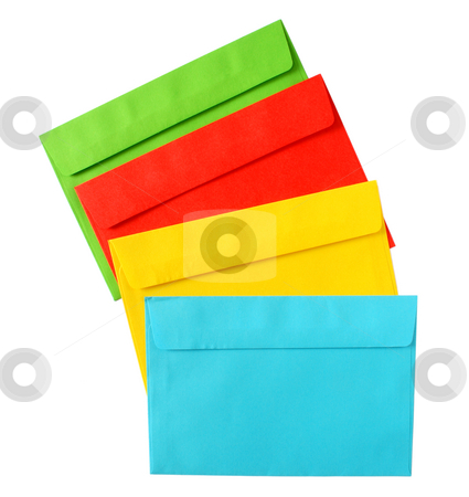 The backs of color envelopes. stock photo, The backs of color envelopes. by Stephen Rees