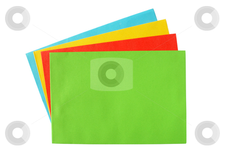 A pile of color envelopes. stock photo, A pile of color envelopes. by Stephen Rees