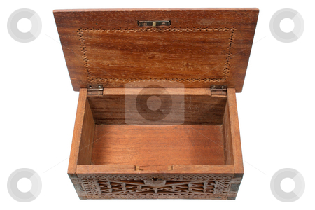 Empty treasure chest. stock photo, Empty treasure chest. by Stephen Rees