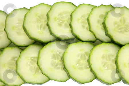 Cucumber slices. stock photo, Cucumber slices. by Stephen Rees