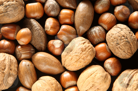 Mixed nuts close up. stock photo, Mixed nuts close up. by Stephen Rees