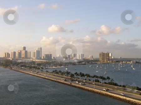 Miami Skyline stock photo, Miami Skyline in Florida (USA) by Ritu Jethani