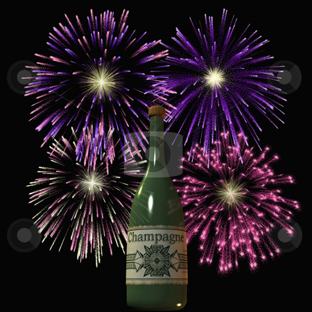 Firework stock photo, 3D Render of an Firework by Andreas Meyer