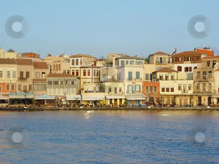 Venecian port hania stock photo, Morning view of the venecian port hania kreta greece travel destinations by EVANGELOS THOMAIDIS