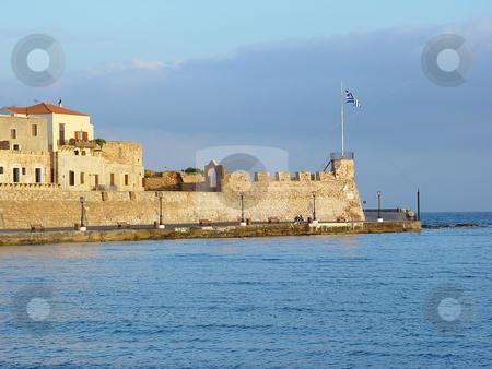 Hania kreta greece stock photo, View of the old port of hania kreta greece travel destinations by EVANGELOS THOMAIDIS