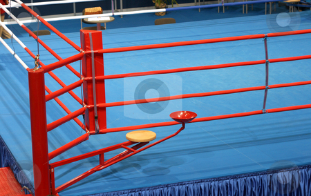 Boxing ring  stock photo, Boxing fight ring  detail sports arena by EVANGELOS THOMAIDIS