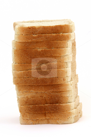 Toast bread stack stock photo, Stack of toast bread slices isolated on white background food concepts by EVANGELOS THOMAIDIS