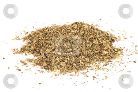 Oregano stock photo, Herbs and spices heap of oregano isolated on white background by EVANGELOS THOMAIDIS