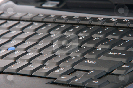 Laptop keyboard stock photo, Laptop computer detail  keyboard business objects for background by EVANGELOS THOMAIDIS