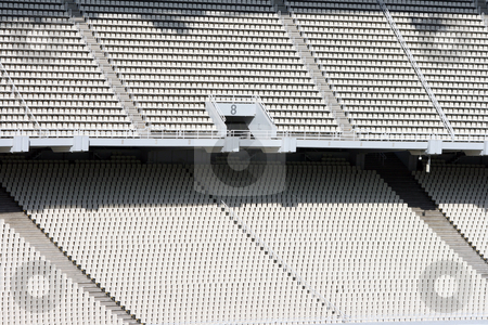 Stadium detail stock photo, Athens olympic stadium detail from gate eight and seats tiers by EVANGELOS THOMAIDIS